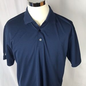 Nike Golf Dri fit NWT navy blue polo large